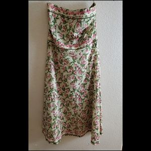 Vintage Molly New York 90s Floral Strapless Dress